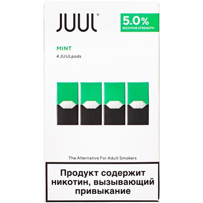 Картридж JUUL Mint х4 0,7мл 50мг - фото 844837