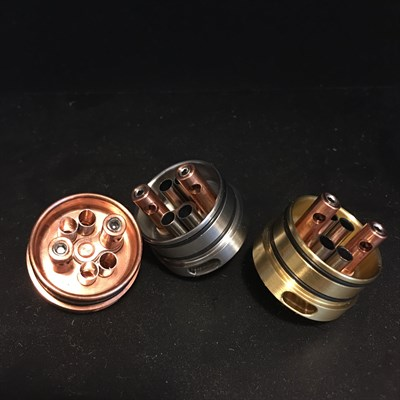 Kennedy RDA 2 post 24mm deck only  (Дека латунная) - фото 845009