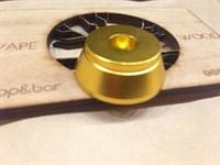 Алюминиевая подставка под атомайзеры с 510 коннектором Золотой