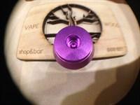 Алюминиевая подставка под атомайзеры с 510 коннектором Фиолетовый