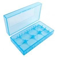 Пластиковый кейс на две батарейки 18650 (синий)