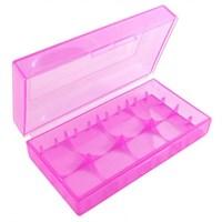 Пластиковый кейс на две батарейки 18650 (фиолетовый)